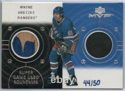 00-01 Upper Deck Mvp Super Souvenirs Wayne Gretzky Game Used Stick Puck 44/50