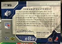 03-04 WAYNE GRETZKY Upper Deck Spx Signature Threads Game Used JERSEY AUTO /50