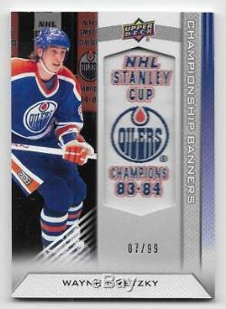 13/14 UPPER DECK EDMONTON OILERS CHAMPIONSHIP BANNERS #CBWG Wayne Gretzky #7/99