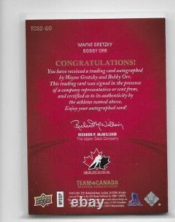 14-15 Upper Deck Team Canada Master Collection DUAL Auto Gretzky Orr 4/25