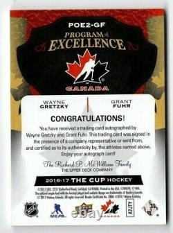 16-17 Upper Deck The Cup Program of Excellence Dual Autos Gretzky/Fuhr 3/5