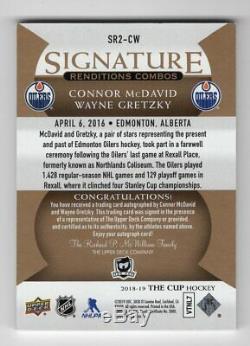 18-19 Upper Deck The Cup Signature Renditions Combos McDavid/Gretzky SR2-CW