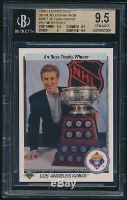 1990-91 Upper Deck 90' Baseball Hologram Back #205 Wayne Gretzky Error BGS 9.5