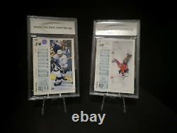 1990-91 Upper Deck Hockey Wayne Gretzky Patrick Roy Error Promo Cards BCCG 10