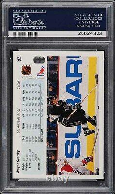1990 Upper Deck Hockey Wayne Gretzky #54 PSA 10 GEM MINT