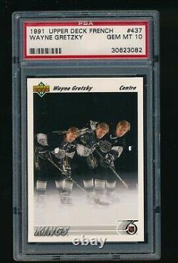 1991-92 Upper Deck French #437 Wayne Gretzky PSA Gem Mint 10