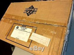 1991-92 Upper Deck Hockey Low Number Factory Sealed Case Of 24 Mint Boxes