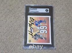 1991-92 Upper Deck Wayne Gretzky Signed Card #38 SGC Slabbed
