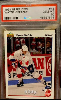 1991 Upper Deck #13 Wayne Gretzky LA Kings/Team Canada PSA 10