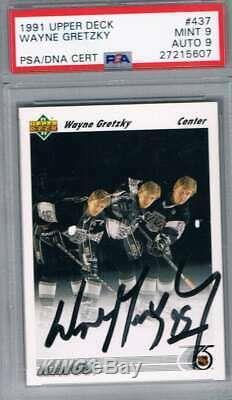 1991 Upper Deck #437 Wayne Gretzky PSA 9 / 9 Auto