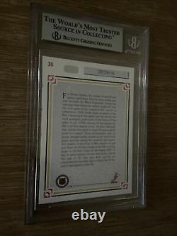 1991 WAYNE GRETZKY AUTO HOF UPPER DECK UD #38 BGS Autograph Signed