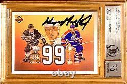 1991 Wayne Gretzky Auto Hof Upper Deck Ud #38 Bgs 10