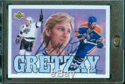 1992 Upper Deck WAYNE GRETZKY Auto Rare! #1542/2800 Oilers/Kings withUDA COA