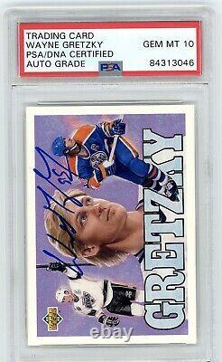 1992 Upper Deck Wayne Gretzky Heroes Signed Autograph PSA GEM MINT 10 Oilers HOF