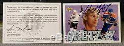 1992 Upper Deck Wayne Gretzky Heroes Signed Card UDA COA #2072/2800