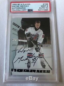 1994 Be A Player Upper Deck Wayne Gretzky Autographs 1st Auto Card #108 Psa 9 10