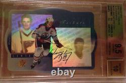 1996-97 Upper Deck SPX Wayne Gretzky On Card Auto #GS1 Oilers Blues BGS 9.5 10