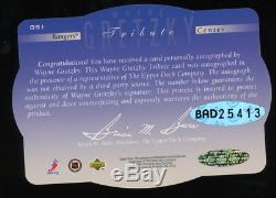 1996-97 Upper Deck SPx #GS1 Wayne Gretzky Auto on Card HOFer Oilers UDA Great 1