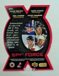 1996-97 Upper Deck Sp Spx Force Gretzky/lemieux/lindros/forsberg Rare