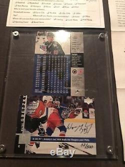 1997/1998 Upper Deck Hockey Card Wayne Gretzky AutoSigned LimitedEdition #52/500