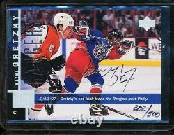 1997-98 Upper Deck Game Dated Wayne Gretzky Buyback Auto /500 Rangers Autograph