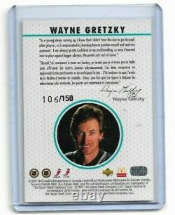 1997-98 Upper Deck Mcdonald's Jersey 106/150 Wayne Gretzky