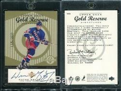 1998-99 Upper Deck UD Gold Reserve Wayne Gretzky Auto Autograph WG #115/200