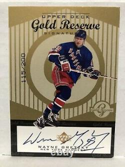 1998-99 Wayne Gretzky Upper Deck Gold Reserve Signatures /200 Autograph SP Auto