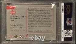 1998 Upper Deck Ud Gold Reserve Wayne Gretzky Auto Game Used Stick Psa 9 Mint