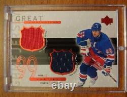 1999-00 Upper Deck Game Jerseys #WG2 Wayne Gretzky Dual Inscribed 4/99! (180)