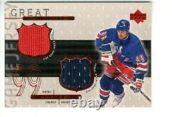 1999-00 Upper Deck Game Jerseys #WG2 Wayne Gretzky Dual Jersey /99 NM-MT