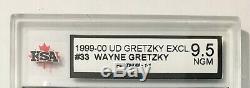 1999-00 Upper Deck Gretzky Exclusives Platinum #33 Wayne Gretzky 1/1 KSA 9.5 NGM