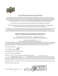1999 McDonald's WAYNE GRETZKY Signed Upper Deck Retro GREAT CAREER Autograph UDA