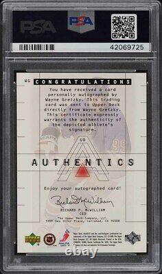1999 Upper Deck HoloGrFx Authentics Wayne Gretzky AUTO #WG PSA 10 GEM MINT