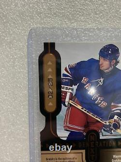 1999 Upper Deck Wayne Gretzky/Marion Hossa Generation Next 2/25 Super Rare