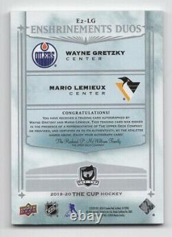 19-20 Upper Deck The Cup Enshrinements Duos Autograph Gretzky/Lemieux 9/10