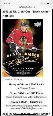 19-20 upper deck clear cut Black Amber Wayne Gretzky. 12800! 1of1 On Internet