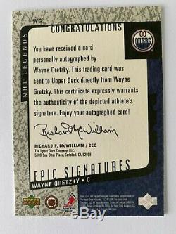 2000-01 Upper Deck NHL Legends Epic Signatures Wayne Gretzky Auto