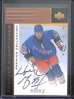 2002-03 Upper Deck Premiere Collection Autograph #s-WG Wayne Gretzky