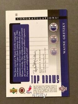 2002-03 Upper Deck Rookie Update Autographs #WG Wayne Gretzky AUTO