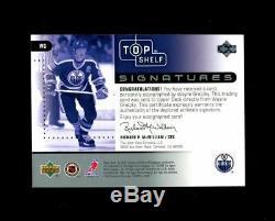 2002 Wayne Gretzky Upper Deck Top Shelf Signatures Oilers Auto R1136