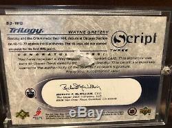 2003-04 Upper Deck Trilogy WAYNE GRETZKY Auto Scripts