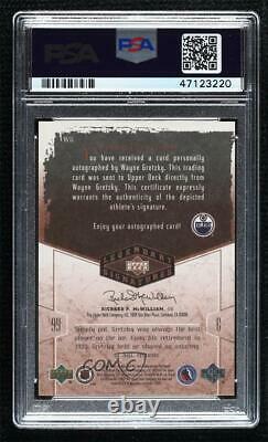 2004-05 Upper Deck Legendary Signatures Wayne Gretzky #WG PSA 9 Auto HOF