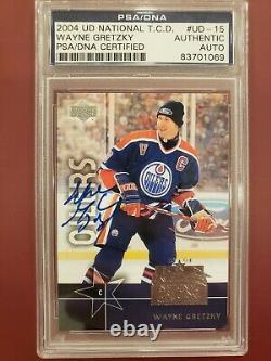 2004 Upper Deck Wayne Gretzky Auto Signed Card PSA Certfied Authenticated