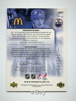 2005-06 McDonald's Upper Deck Autographs #MA1 Wayne Gretzky 13/50 RARE