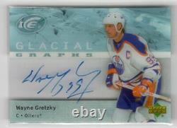 2005-06 Upper Deck Ice Glacial Graphs Autograph Auto Wayne Gretzky Oilers Hof