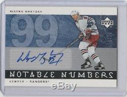 2005-06 Upper Deck Notable Numbers Autograph #NWG Wayne Gretzky #19/99 Rangers