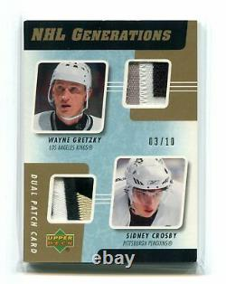 2006-07 Upper Deck Generations Patches Dual Sidney Crosby/Wayne Gretzky 03/10