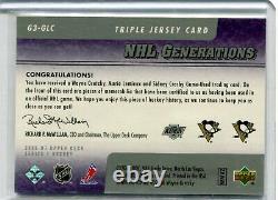 2006-07 Upper Deck Generations Triple Wayne Gretzky/Sidney Crosby/M. Lemieux /25