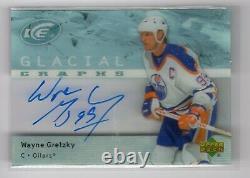 2007-08 Upper Deck Ice Glacial Graphs Auto Wayne Gretzky Oilers Hof Rare